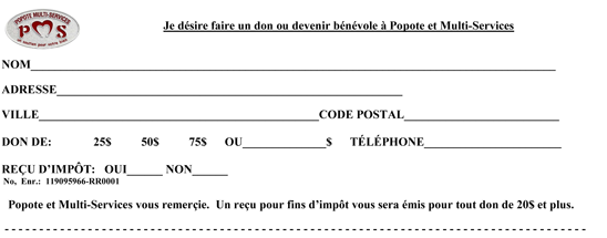 Faire un don - Coupon